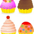 Royalty-Free Stock Vector Image: Yummy cup cakes