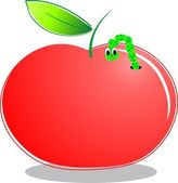 Red apple cartoon — Stock Vector