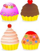 Yummy cup cakes — Stock Vector