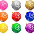 Royalty-Free Stock Vectorafbeeldingen: Christmas balls with snow flakes pattern
