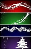 Christmas web banners / backgrounds — Stock Vector