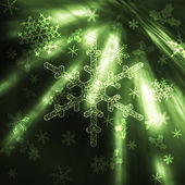 Sparkling snowflakes — Stock Photo