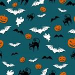 Halloween seamless background — Stock Photo