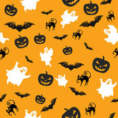 Halloween seamless background — Stock Photo