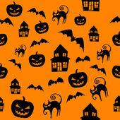 Halloween naadloze achtergrond — Stockfoto