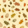 Seamless autumn background with leaves — Stock Photo