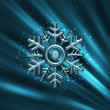 Christmas Chrystal Snowflake — Stock Photo