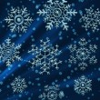 Christmas Chrystal Snowflakes — Stock Photo