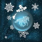 Christmas ball with horse — Zdjęcie stockowe