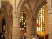 Wnętrze st. michael i Katedra św, Bruksela — Zdjęcie stockowe