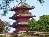 Japanese Tower And Royal Gardens — Stock Photo