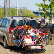 Family car with bicycles — Stock Photo #17414121