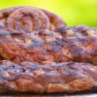 Stack of barbecue pork spare ribs — Stock Photo