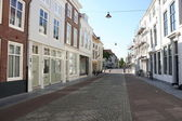 Old houses and street in Middelburg — Stock Photo