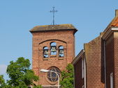 Roof, steeple in the cente of middelburg — Stock Photo