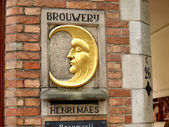 Signboard Brouwerij Henri Maes — Stock Photo