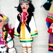 The Moldovan dolls in national costume man — Stock Photo
