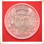 Decorative clay plates Moldova Chisinau — Stock Photo
