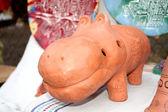 Ocarina in the form of a hippopotamus — Stock Photo