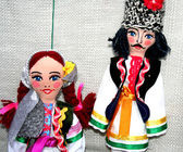 The Moldovan dolls in national costume man and a woman — Stock fotografie
