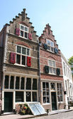 Old houses and street in Veere — Stock Photo