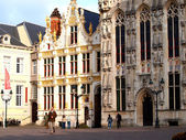 Town Hall on the Market Square, Bruges, Belgium — Stock Photo