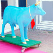 The blue cow artificial - Stock Photo