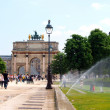 The Arc de Triomphe Carrousel in the Tuileries Gardens in Paris. — Stock Photo