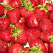 Ripe red strawberries closely — Stock Photo