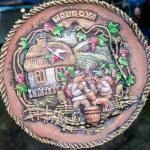 Decorative clay plates Moldova — Stock Photo