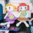 Hand made dolls of Moldova — Stock Photo
