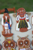 Figurines in national costumes Moldova — Stock Photo