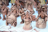 Many small clay figurines of the Moldovan people — ストック写真