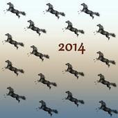 Running horse New Year 2014. — Foto de Stock