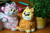 一只猫和猫妈妈 — 图库照片