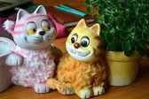 Un gato y madre-cat — Foto de Stock