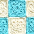 Knitted squares — Stockfoto