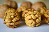 Walnut kernels closeup — Stock Photo
