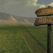 Sign direction money-money — Stock Photo