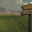 Sign direction new life - old life — Stockfoto