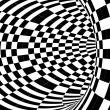 Black and white hypnotic tunnel — Stock Photo
