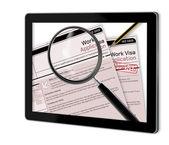 Work Visa Application — Stock Photo