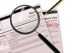 Work Visa Application — Stock Photo