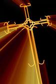 Kruis met rode stralen — Stockfoto