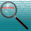Hacking for password — Stock Photo