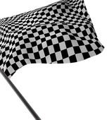 Large Checkered Flag — Stock Photo