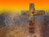 Rusty cross — Stock Photo