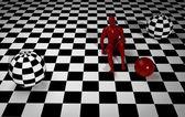 Checkered composition — Stock Photo