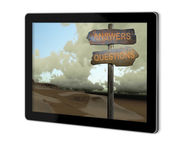 Sign direction answers-questions — Stock Photo