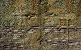 Velho muro com cruz — Fotografia Stock